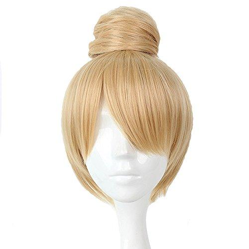 Mcoser 30cm Tinker Bell Cosplay short Blond Hair Cos Wig ()