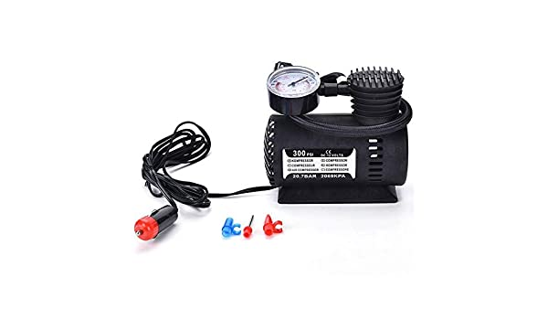 Air Compressor Pump 300PSI 12V Car Tire Inflator Electric Tire Pump with 3 Nozzles for Car Bicycle Basketball Air Boat and Other