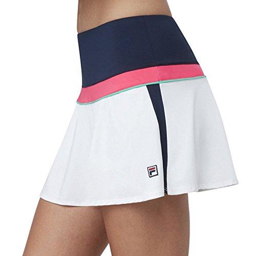 Fila Women's Heritage Colorblock Skort, Navy, White, Diva Pink, Mint, ()