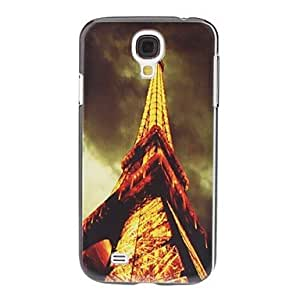 Bkjhkjy Golden Eiffel Tower Pattern Hard Case for Samsung Galaxy S4 I9500