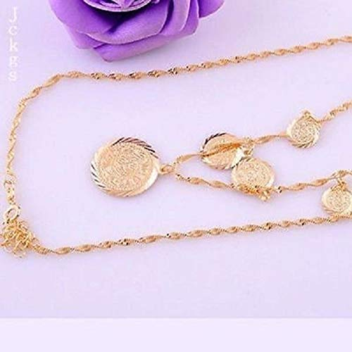 1pc Necklace Excellent 14K Gold Filled Pendant Jewelry Fashion Coin Design -