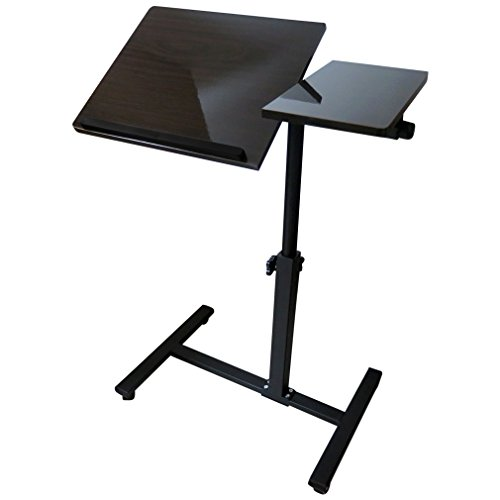Evelots Angle Height Adjustable Rolling Laptop Notebook O...