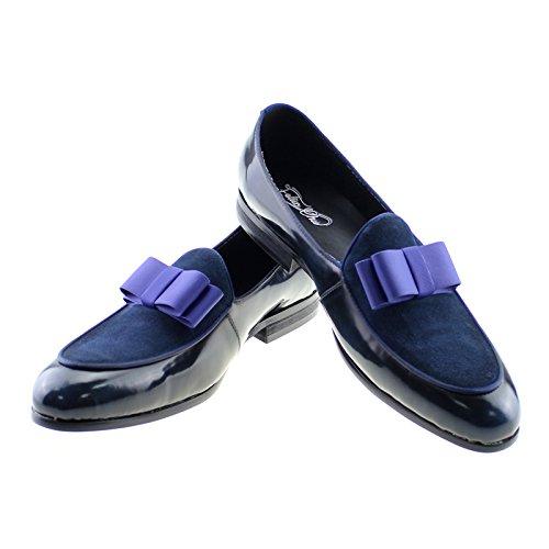Felix Chu Heren Kleding Schoenen Lakleer En Suède Korte Tong Schoenen Mannen Zakelijke Schoenen Blauw