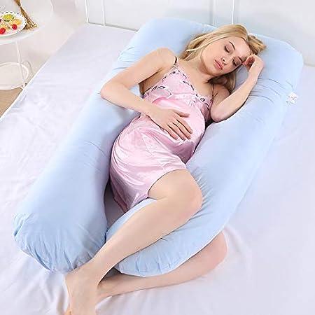 Oreiller de Grossesse oreillers de maternit/é en Coton en Forme de U pour Les dormeuses lat/érales de Grossesse 115x55cm Violet Oreiller dallaitement AINIYUE Oreiller de Soutien de Sommeil