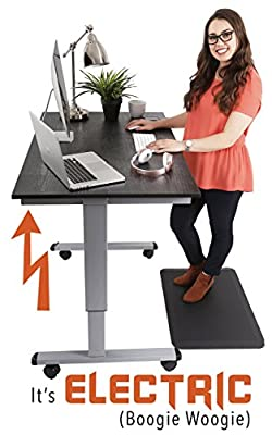"Stand Steady Tranzendesk Electric Full Sized Standing Desk (47"" x 29.5"" Desktop) Height Adjustable (29.5"" – 45.25"") Easy Push Button Electric Sit/Stand Desk! Quiet Motor with 7 Year Warranty!"