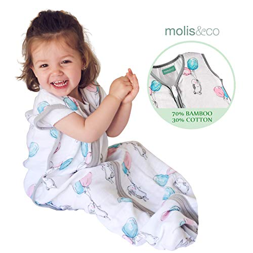 Wearable Blanket for Baby, Premium Cotton Breathable Muslin Sleeping Bag and Sack, 18-24 Months, 0.5 TOG, Ideal for Summer
