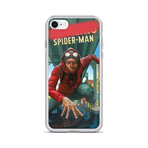 iPhone 7/8 Case Anti-Scratch Comic Strip Transparent Cases Cover Superhero Comics Comedian Crystal Clear -