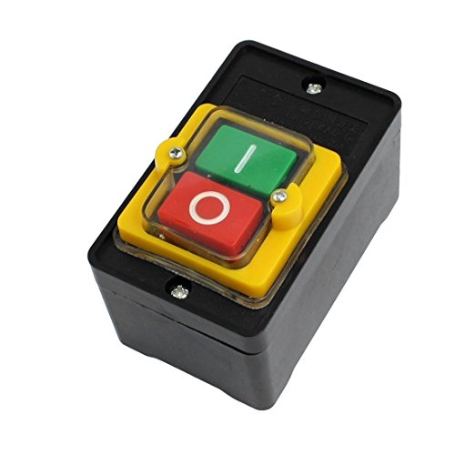 URBEST Push Button Switch KAO-5 Waterproof On/Off Start Stop 10A AC 380V (Button Push Switch Stop)
