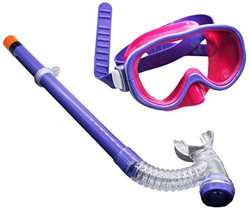 Hardking Kids Youth Junior Silicone Scuba Swimming Diving Mask Snorkel Glasses Anti Fog Goggles Set (Purple)