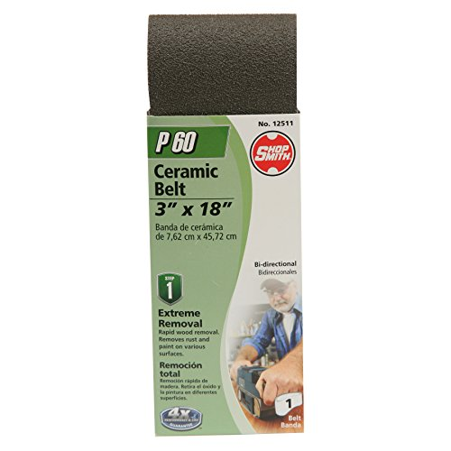 Shopsmith 12511 3'' x 18'' Ceramic Sanding Belts 60 Grit 1 Pack by Gator Finishing