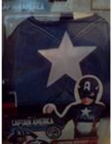 [Captain America 2 Pieces Child Costume Size S (4-6)] (Baby Girl Marvel Costumes)