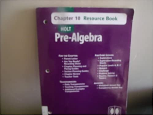 holt pre algebra answer key online
