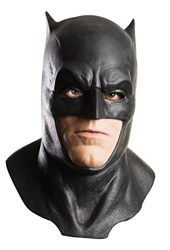 World Book Day 2016 Costumes Adults (Dawn of Justice Batman Foam Latex Mask with Cowl, Black, One Size)