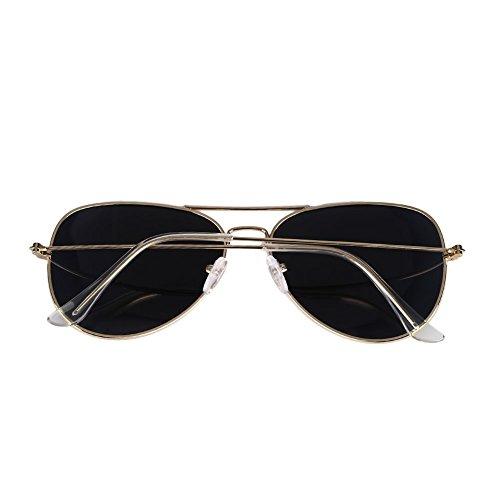 para días gafas de Hombre los de polarizadas aleación sol Gris Pieza Casual Marco de de Mujer gafas Plata Marco todos sol retro 7wEZdqw