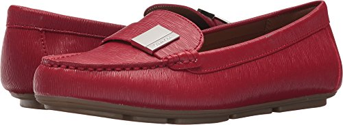 Calvin Klein Womens Lisa Crimson Red birtch Saffiano Smooth 8.5 M