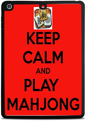 Keep Calm and Play Mahjong Black iPad Air Silicone Case by Debbie's Designs