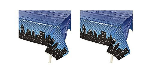 Superhero Tablecloths Photobooth Backdrop Party Supplies Boys Girls 2-Pack -