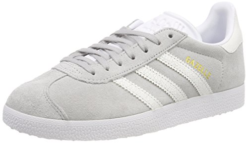 Adidas Gimnasia de Footwear para White Zapatillas Gris White Grey Footwear 0 W Gazelle Mujer raRq6r