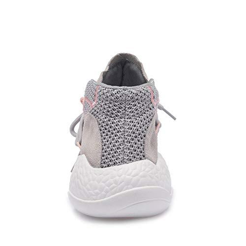 37 XING Fuego Mismos Zapatos Los Red Zapatos Volador Tejido White Otoño Casuales Grey De Súper De Rojo GUANG Mujeres 37 Transpirable con FInFfH