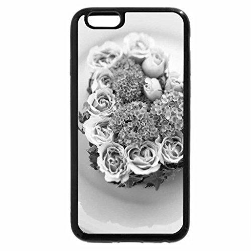 iPhone 6S Plus Case, iPhone 6 Plus Case (Black & White) - Flower heart