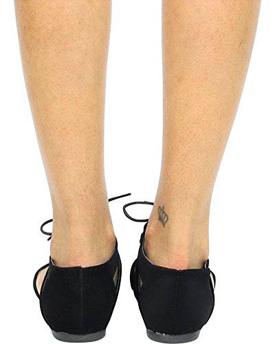 Wells Mujeres Casual / Oficina / Trabajo / Negocios Flats Black / Lace Up