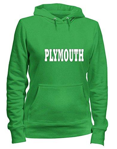 Felpa Donna Verde Wc0777 shirtshock Cappuccio Plymouth T fqS5pwx
