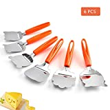 6 Pcs Set Pizza Shovel, Animal Shaped Shovel, Stainless Steel Pizza Tools, Cheese Kitchen Spatula Tools Perfect Gift for Baking Enthusiasts