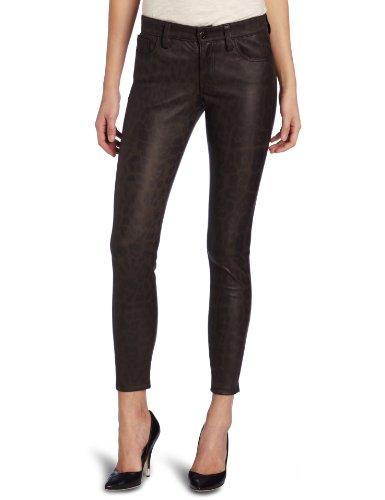 Joe's Jeans Women's Leopard Leather Skinny Ankle, Taupe, 24