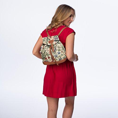 Signare - Petit sac à dos Backpack tapisserie toile Mode Sacs de femmes / Matin Jardin