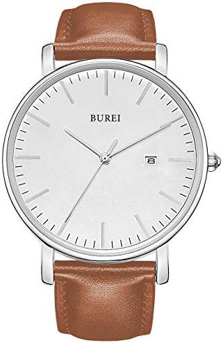BUREI Fashion Minimalist Analog Leather product image