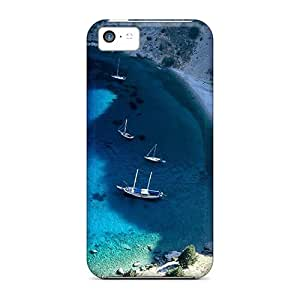 New Premium Flip Cases Covers Yacht In A Secluded Beach Skin Cases For Iphone 5c