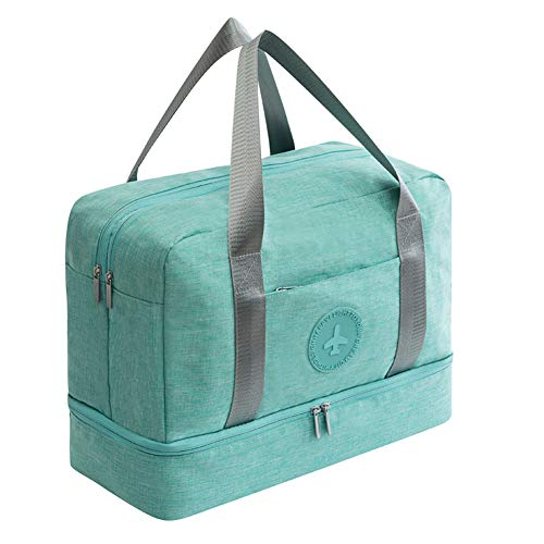 Weekender Bag Gym Tote Bag for Women Dry Wet Pocket with Shoe Compartment Waterproof Duffle Bag Overnight Bag Swim -