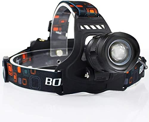 ZHENXIN Lampe Frontale LED Rj-2157 5000lumens Xm-l2 LED Headlamp 5-Mode Zoom Headlight Rechargeable