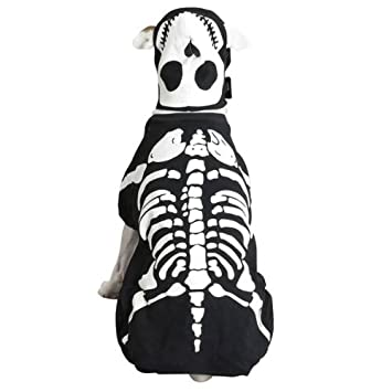 Amazon Casual Canine Cotton Glow Bones Dog Costume Medium 16 Inch Pet Supplies