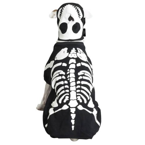 Casual Canine Cotton Glow Bones Dog Costume, Large, 20-Inch -