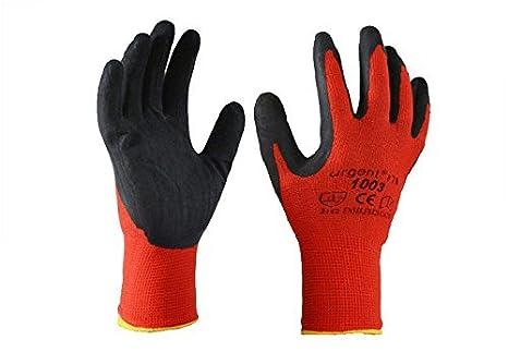 noch nicht vulgär außergewöhnliche Farbpalette für die ganze Familie Urgent 1003-9 12 Paar Arbeitshandschuhe EN420 Kat I rot-schwarz 1003 (9)