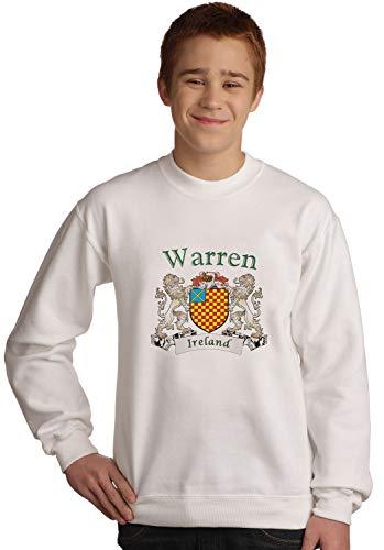 Warren Irish coat of arms Sweatshirt in White