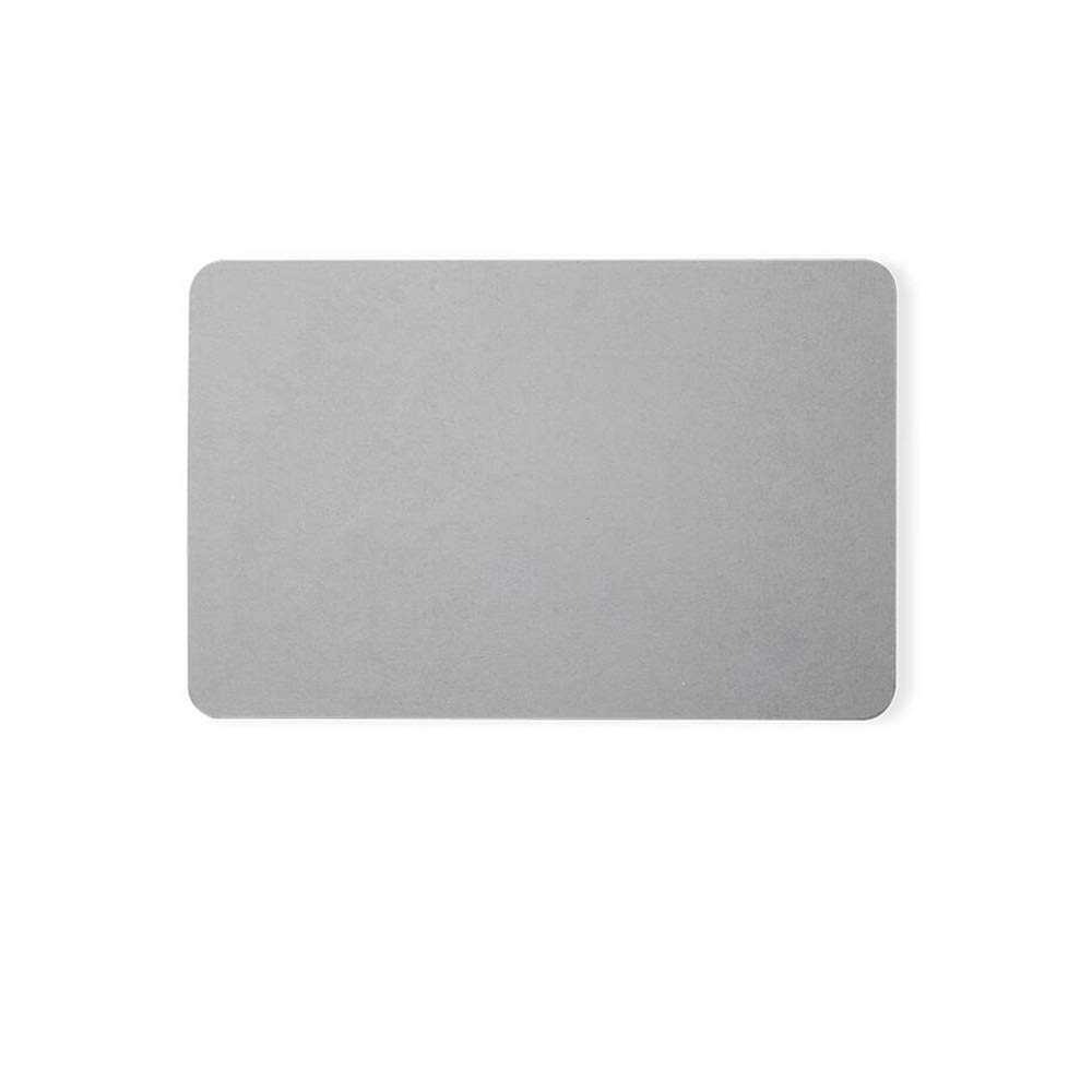 Non-slip pad ZMIN Bathroom Mat Bedroom Floor Mat Curved Design Foot Pad Diatom Mud Super Strong Adsorption Non-Slip Quick-Drying Easy to Clean (Color : Grey)