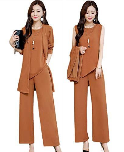 [해외]MORL 바지 정장 한 벌 여성용 재킷 정장 팬츠 설치 팬츠 드레스 쉬폰 3 점 세트 깨끗 단순 통근 입학 식 입원 식 결혼식 着?せ 큰 봄 여름가을 / MORL Pantsuit Suit Women`s Jacket Formal Pants Set-Up Chiffon 3 pieces Set Beautiful Simple Com...