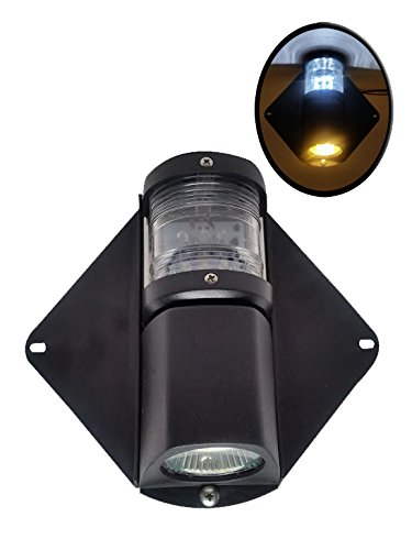 Pactrade Marine Waterproof LED Combo Masthead Deck Light for Boats Up to 12M