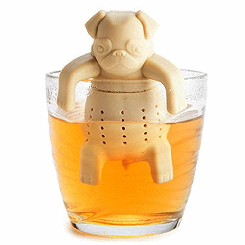 OPPOHERE-Pug-in-A-Mug-Silicone-Tea-InfuserPack-of-1