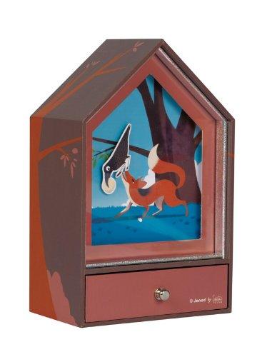 Janod 4502968 - Solar Musik Nachtlicht - der Fuchs und die Krähe