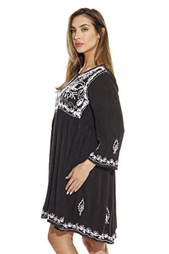 Denim Women Dresses Sun Riviera Tunic for Black zPRwnYIq