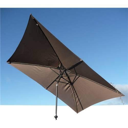 Grand parasol inclinable rectangulaire 3x2 mètres en aluminium