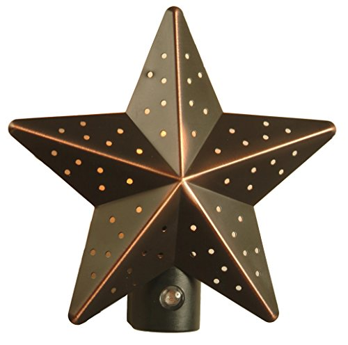 AmerTac 75050VB Aged-Bronze Tin Star Auto-On/Off Nite Lite ()