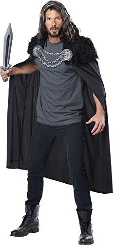 California Costumes Men's Wolf Clan Warrior Cape, Black, One Size -