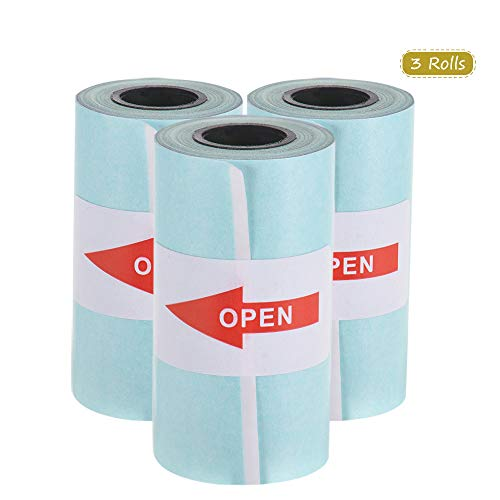 Entweg Sticker Roll, 5730mm Direct Thermal Paper with Self-Adhesive for PeriPage A6 Pocket Thermal - Paper Thermal A6