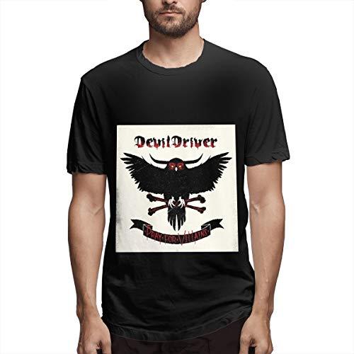 DevilDriver Pray for Villains O-Neck T Shirts Short Sleeve Tee ()