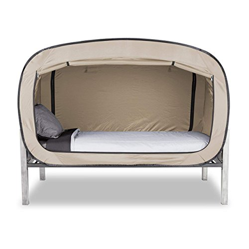 privacy pop bed tent twin tan buy online in uae toys and games products in the uae. Black Bedroom Furniture Sets. Home Design Ideas