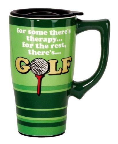 Spoontiques Golf Travel Mug, Green